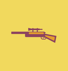 sniper rifle eps vector image