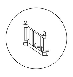 Stairs icon in outline style isolated on white vector