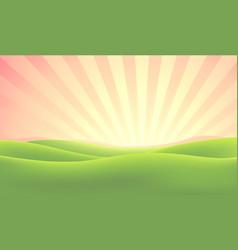 Summer nature sunrise background vector