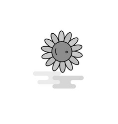 sunflower web icon flat line filled gray icon vector image