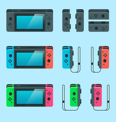Switch game console vector