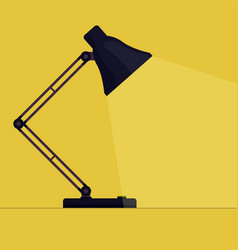 Table desk lamp flat vector