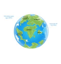 Tectonic movement 135 vector image