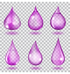 Transparent violet drops vector