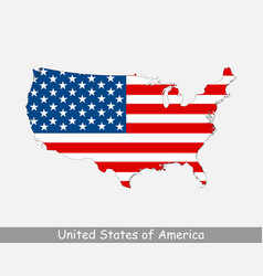 United states america usa map flag vector