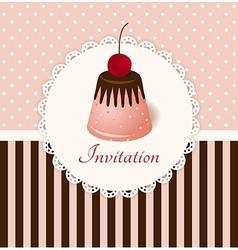Vintage invitation card vector image