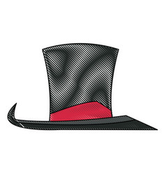 vintage top hat accessory host carnival vector image
