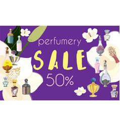 Web banner invitation post card text perfumery vector