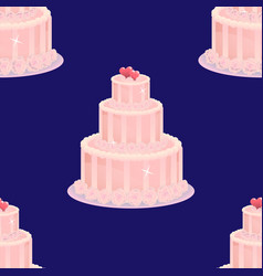 wedding cake seamless pattern vector image