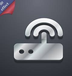 Wi fi router icon symbol 3D style Trendy modern vector
