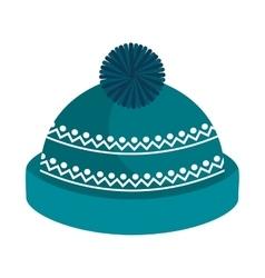 Winter hat clothes icon vector