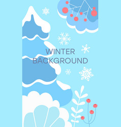 winter landscape background flat vector image