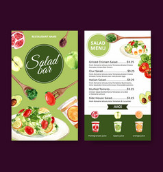 World food day menu design with tomato apple vector