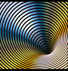 wormhole optical illusion geometric gold metallic vector image