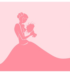 Background with bride vector image vector image