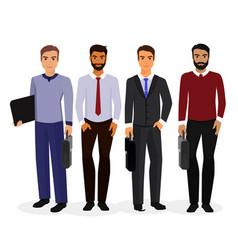 business men cartoon vector image
