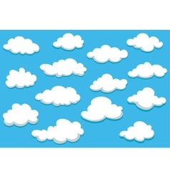 Cartooned clouds background vector image vector image