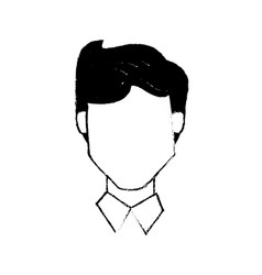 head male people character vector image