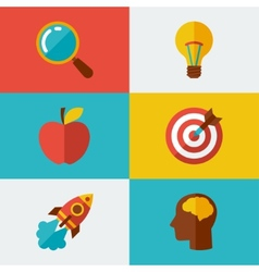 Idea concept in flat design style vector image vector image