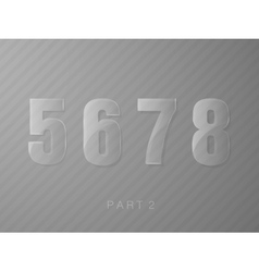 numbers made of glass transparent classic numeral vector image