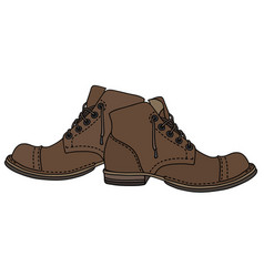 old lacing shoes vector image vector image