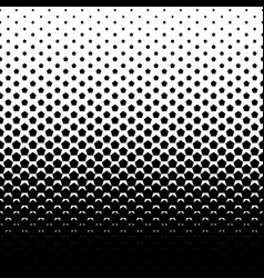 Pentagon halftone background vector