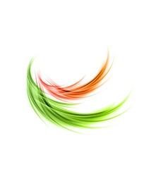 abstract smoke green red vector image vector image