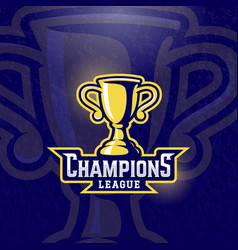 champions league prize cup sport trophy vector image vector image