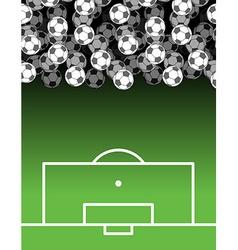 football field and Ball Lot of balls Soccer vector image