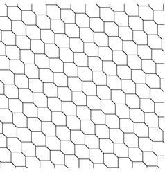 Black and white honeycomb graphic tiles pattern vector