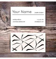 Business card template with creative white and vector image