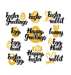 Easter hand drawn quotes vector