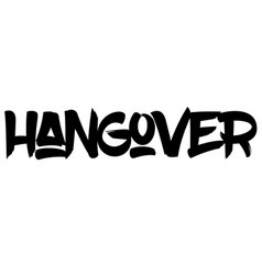 Hangover typographic stamp vector