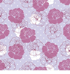 Seamless floral pattern violet pink and white rose vector image vector image