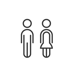 thin line couple male and female icon minimalistic vector image