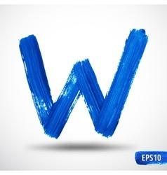 Alphabet Letter W Watercolor Alphabet vector image vector image