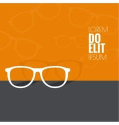 Geek glasses icon vector image