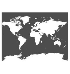 map of world black silhouette white high vector image vector image