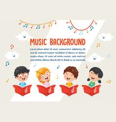 of kids choir vector image