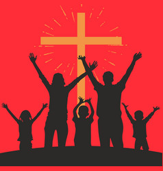 people worshiping god vector image