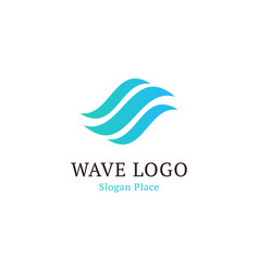 wavy wave in round shape red and blue feather vector image vector image