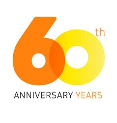 60 anniversary years logo vector