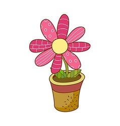 A view of flower pot vector
