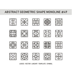 Abstract geometric shape monoline 49 vector