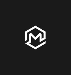 Abstract letter m logo icon design modern vector