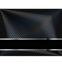 Abstract metallic black background vector