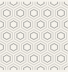 abstract seamless pattern of dotted hexagons vector image