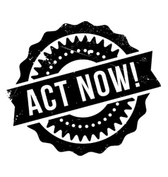 Act now stamp vector