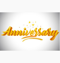Anniversary golden yellow word text with vector