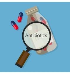 Antibiotics capsule medication vector